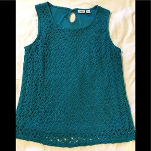 Size Lg Crotchet blouse. EXCELLENT CONDITION
